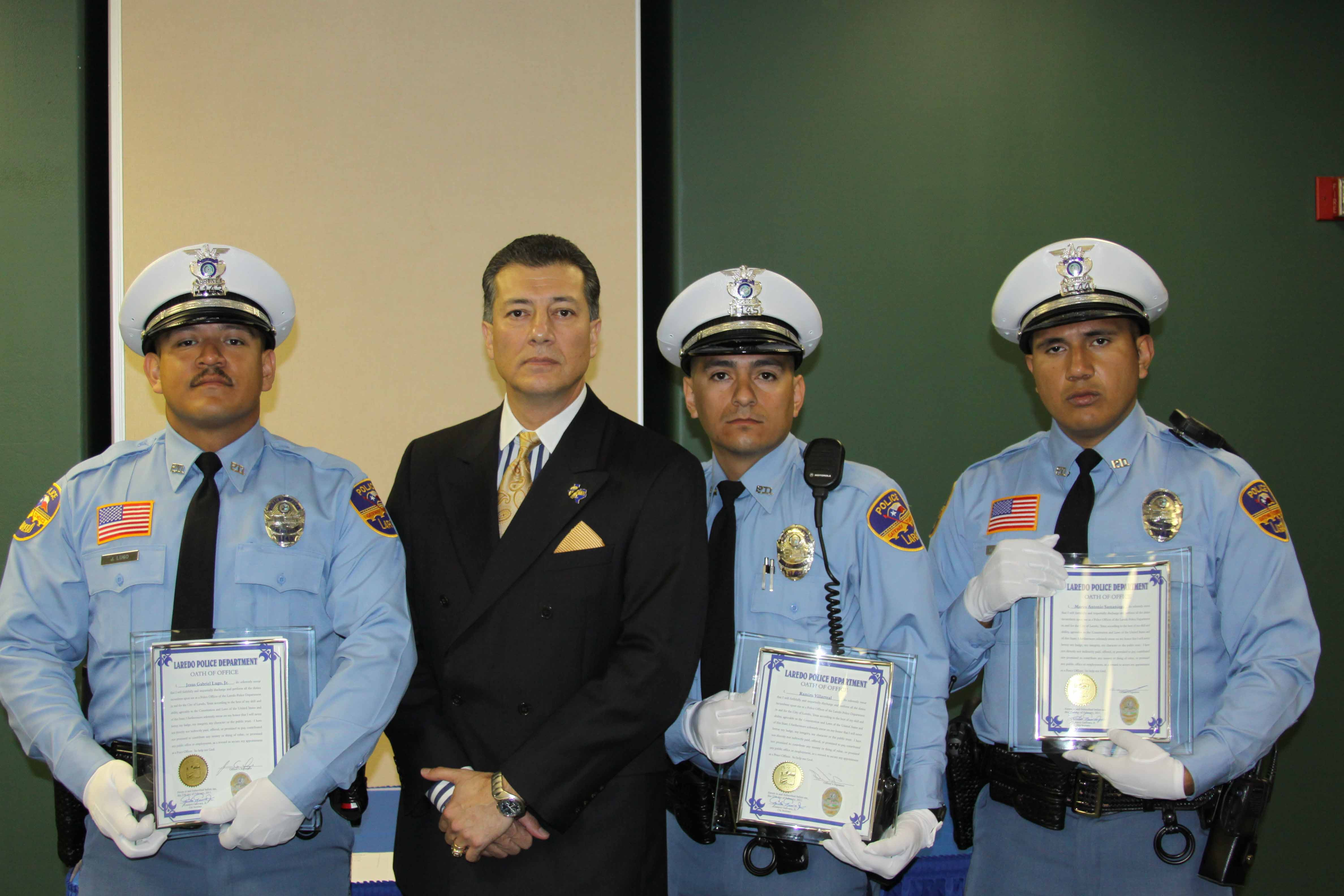 Laredo Police Department Welcomes Three New Officers ...