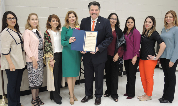 Group of UISD Counselors and Mayor
