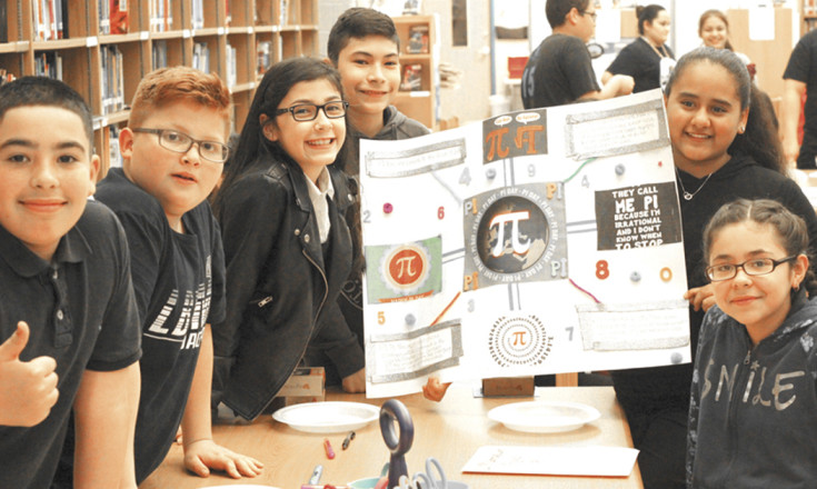 Pi 2 students working on project